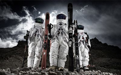 They skied on the moon!