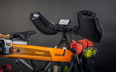 SCOTT MTB SK-eRIDE and CROSSCALL GPS for successful ski mountaineering sessions